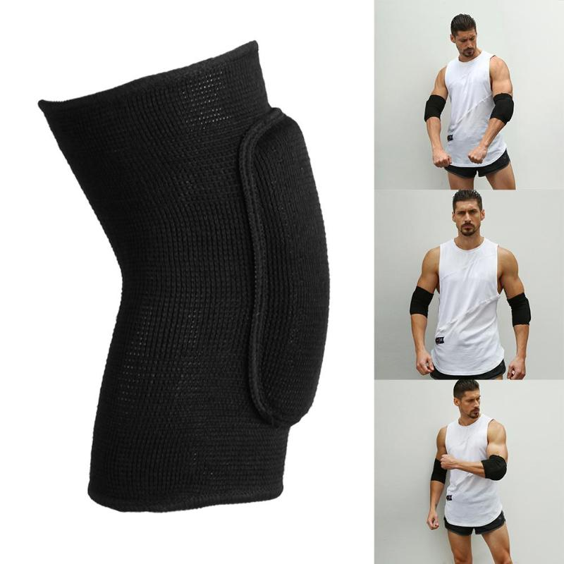 1pair Elastic Elbow Knee Support Sports Knitted Sponge Protectors Elbow Pad Sports Protective Gear Safety Equipment