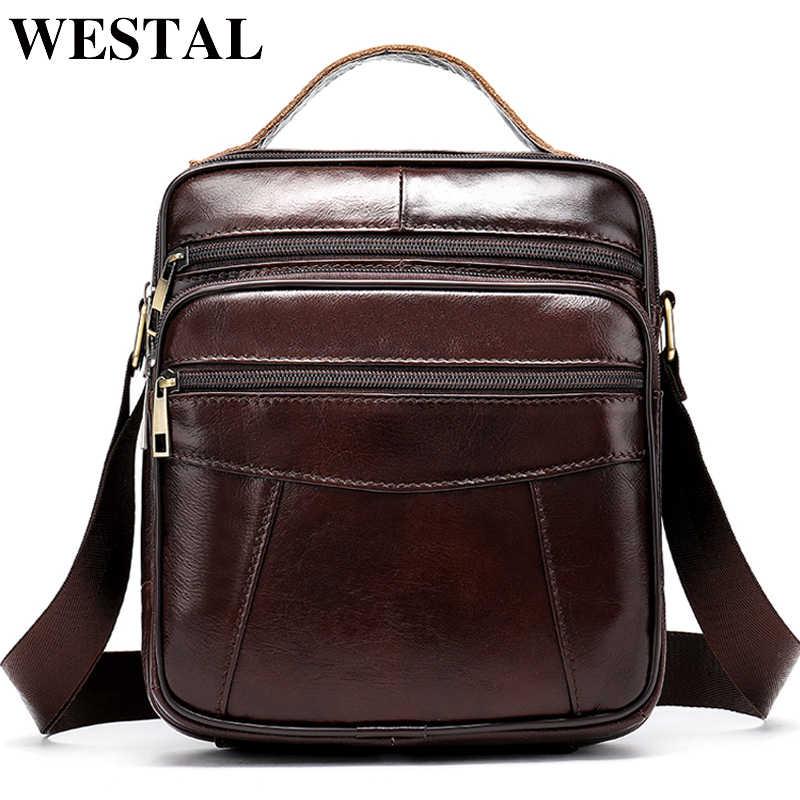 87170df44c0b WESTAL Bag Men's Genuine Leather Crossbody Bags for Men Vintage Messenger  Bag Man Leather Small Shoulder