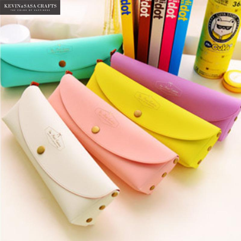 PU Pencil Case Quality School Supplies Stationery Gift Cute Pencil Box Pencilcase Office School Tools Pencil Cases Tools