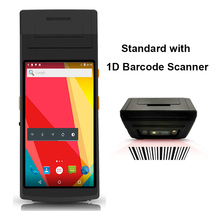 RUGLINE 5.5 inch android 7.0 OS Handheld Pos Computer PDA With 1D/2D Barcode Scanner 4G Wifi Bluetooth GPS PDA5501 7inch touch display industrial pda android tablet ccd 1d 2d barcode scanner handheld tablet with bluetooth nfc wifi 4g