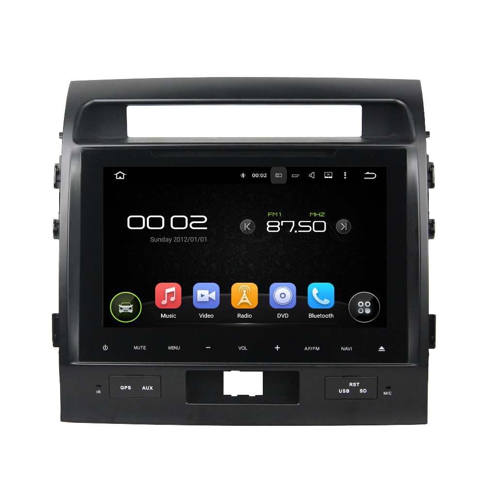 1024*600 Quad Core HD 9″ Android 5.1 Car Radio DVD Player for Toyota Land Cruiser 200 With GPS 3G WIFI Bluetooth Mirror link