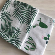 Patchwork Cotton Linen Fabric Plant Printed Canvas For Quilting DIY Sewing Material Cloth