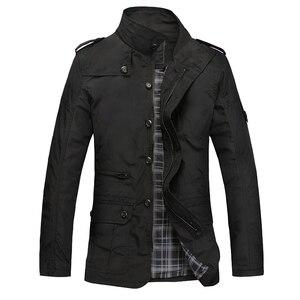 Image 2 - NaranjaSabor Fashion Thin Mens Jackets Hot Sell Casual Wear Comfort Windbreaker Autumn Overcoat Necessary Spring Men Coat N483