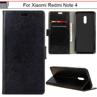 Phone Case For Xiaomi Redmi Note 4 Pro Prime Luxury PU Wallet Flip Leather Cover For