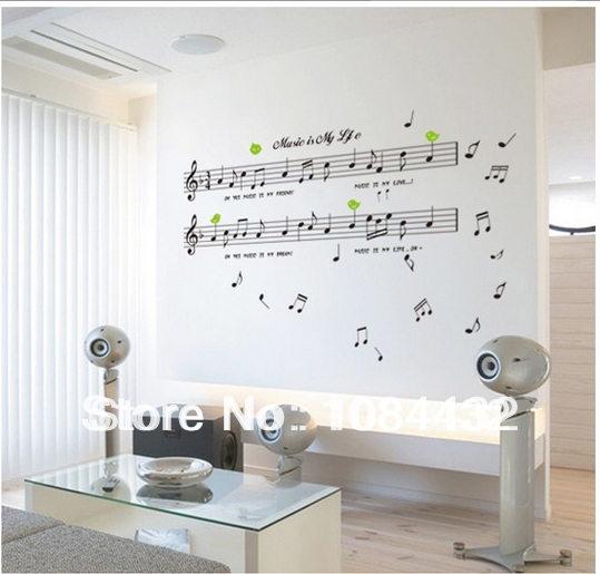 Sheet Music Wall Art online shop free shipping removable sheet music and musical notes