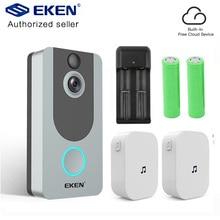 EKEN V7 Silver door bell camera 1080P wifi doorbell IP Smart Wireless Security FIR Motion Detection Alarm Cloud storage bell