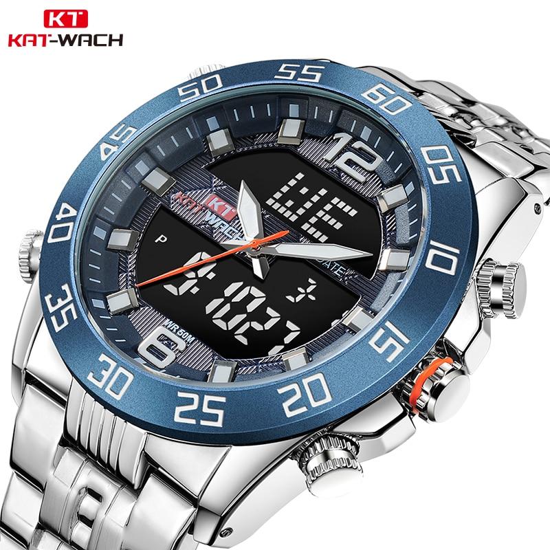 100% Wahr Kat-wach Quarz Herren Quarz Analog Uhr Luxus Mode Sport Armbanduhr Wasserdicht Edelstahl Uhren Uhr Relogio Masculino