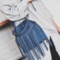 BARHEE Moda Borlas Mulheres Bolsa Faux Suede Couro Das Mulheres Balde Bolsa de Ombro saco Pequeno Mensageiro Sacos Casuais bolsa feminina