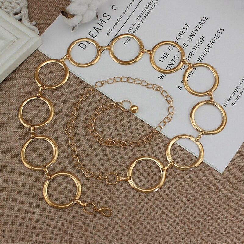 2020 New Arrival Silver Ring Chain   Belt   Fashion Elegant Gold Metal Female Round Alloy Women Circle Waist Dress   Belts