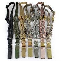 WoSporT Tactical Proteção Sling Corda de Segurança CS Linha de Nylon Ombro Oblíquo Um-Ponto Extreme Sports Elastic Rope Função