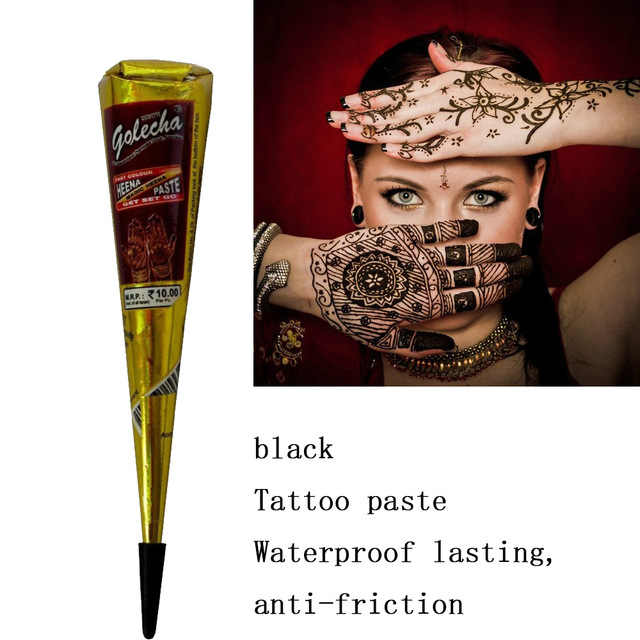 1PC Body Indian Art Paint Cream Mehandi Ink for Stencil Ink Color Henna Cones Tattoo Paste  Waterproof Tattoo Kit TSLM2