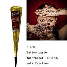 ba134cfc9d7fec 1 PC ciała Indian sztuki farby krem Mehandi tusz do wzornik kolor atramentu  Henna szyszki tatuaż wklej wodoodporny zestaw do tat.