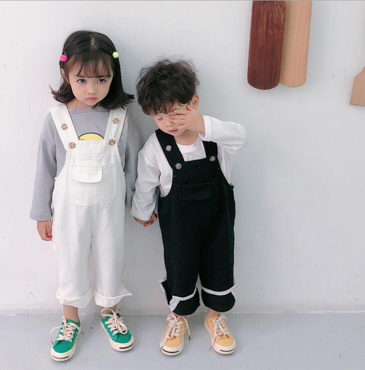 2019 Koreanische Stil Mädchen Jungen Denim Overalls Frühling Mode Kinder Hosen 1-6 Jahre Hf906 Ausreichende Versorgung Mutter & Kinder