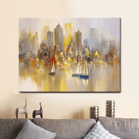 New York City Painting Home Decor Home Decoration Oil painting Wall Pictures for living room Home Decor paint Wall art paint 1