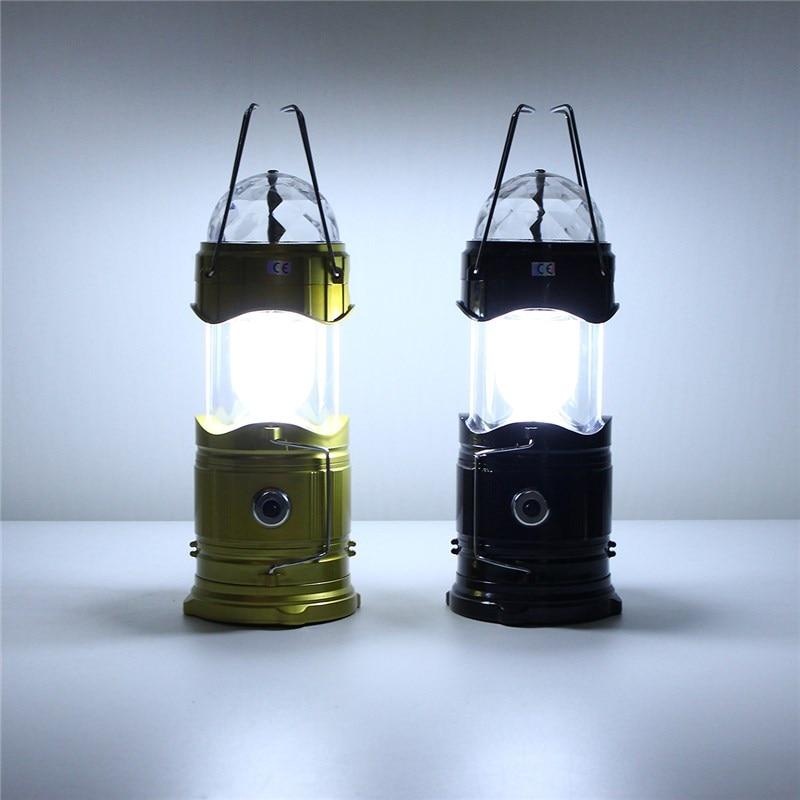 Us 14 97 Tragbare Rgb Weiss Buhne Licht Sprachsteuerung Outdoor Camping Lichtzelt Faltbare Magische Kugel Lampe Laterne Wandern Eu Stecker In
