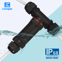 1PC T-Type Wire Waterproof Terminal Connector  Quickly Connected 3 pin Sealed IP68 Retardant Junction Boxes