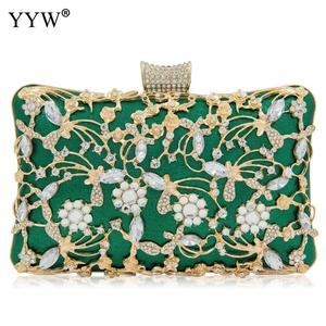 Image 5 - Women Rhinestone Clutch Bags gold purse Handbag Luxury Wedding Beaded elegant Crystal Evening Bag Diamond silver Shoulder Bags