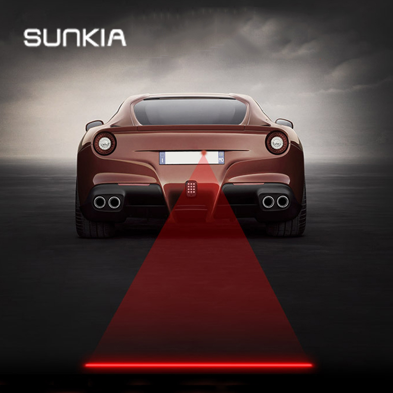 SUNKIA Car&Motorcycles  Laser Fog Lamp Anti-Fog Rear Warming Light For KIA Hyundai Ford Mazda VW Skoda Suzuki with New Patterns