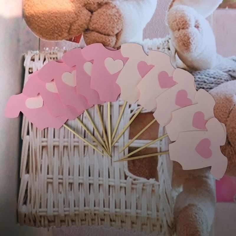 ホットベビー服カップケーキトッパー子供 Birhday パーティー好意ベビーシャワーの装飾用品 5*5.5 センチメートルケーキ装飾