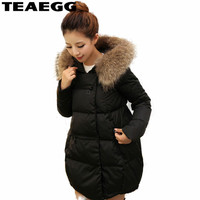TEAEGG Plus Size 5XL 6XL Thick Black Winter Jacket Women Coat 2017 Cotton Padded Parka Womens