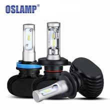 Oslamp LED H4 автомобилей лампы 6500 К все-в-одном Hi-Lo луч H4 светодиодные лампы для авто led 2WD 4WD фан-менее авто голову Лампы для мотоциклов внедорожник 50 Вт 8000lm csp чипы H4 фары для авто