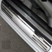 For Honda Civic Door Sill Plate Stainless Guards Threshold Trims Protector Strips Car Sticker Car Accessories