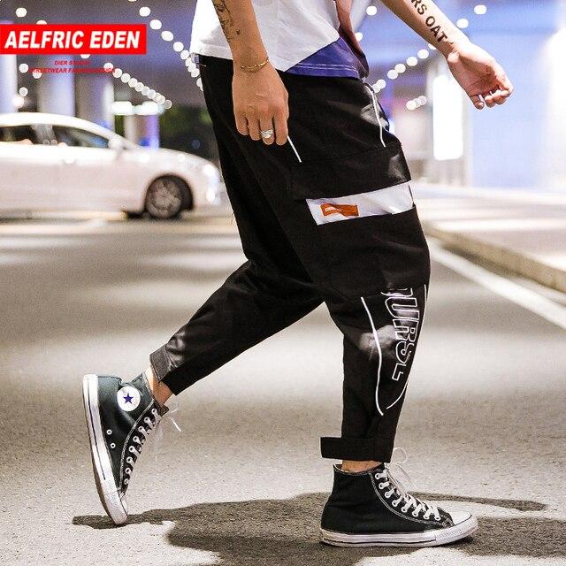 e71fd880cd Aelfric Eden pantalones de los hombres 2018 de moda de verano de Hip Hop  ropa deportiva