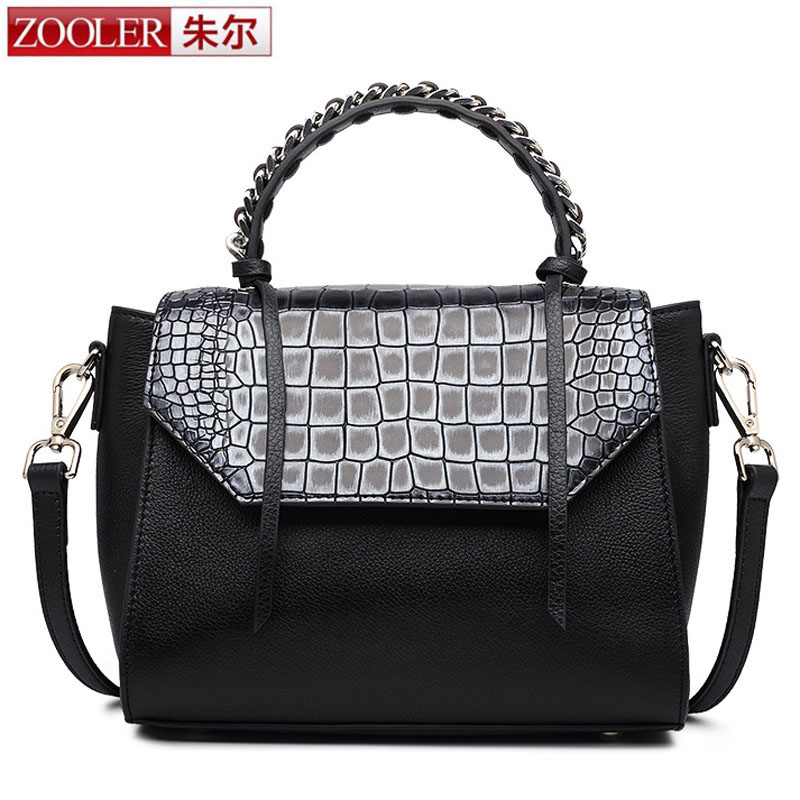 ZOOLER Crossbody Bags for Women New Ladies Messenger Bag Crocodile Genuine Leather Small Shoulder Bag sac a main femme de marque