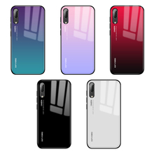 Case For Huawei P30 Pro P20 Lite Cover Colorful Tempered Glass Silicone Bumper for Mate 20 Phone Coque