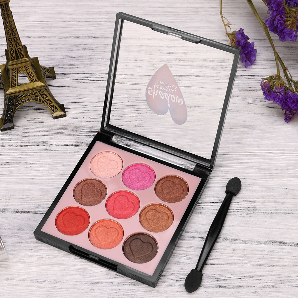 Beauty & Health 9 Color Pearl Glitter Eye Shadow Powder Palette Matt Eyeshadow Cosmetic Makeup 180118 Free Shipping Drop Ship
