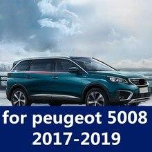 De acero inoxidable de alta calidad ventana de coche tira de ajuste de protección de armazón artículo accesorios de coche para peugeot 5008, 2017-2019