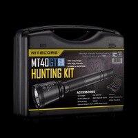 NITECORE MT40GT охота комплект 1000 люмен CREE XP L Здравствуйте V3 светодио дный осуществления Военный Открытый Поиск Кемпинг Фонари фонарик BOXSET