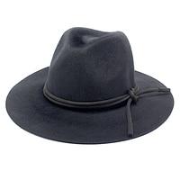 ROSELUOSI Vintage Unisex Yün Caz Şapka Erkekler Siyah Büyük Ağız Kadınlar Için Yüksek Kalite Sonbahar Kış Fedoras Panama Şapka Keçe