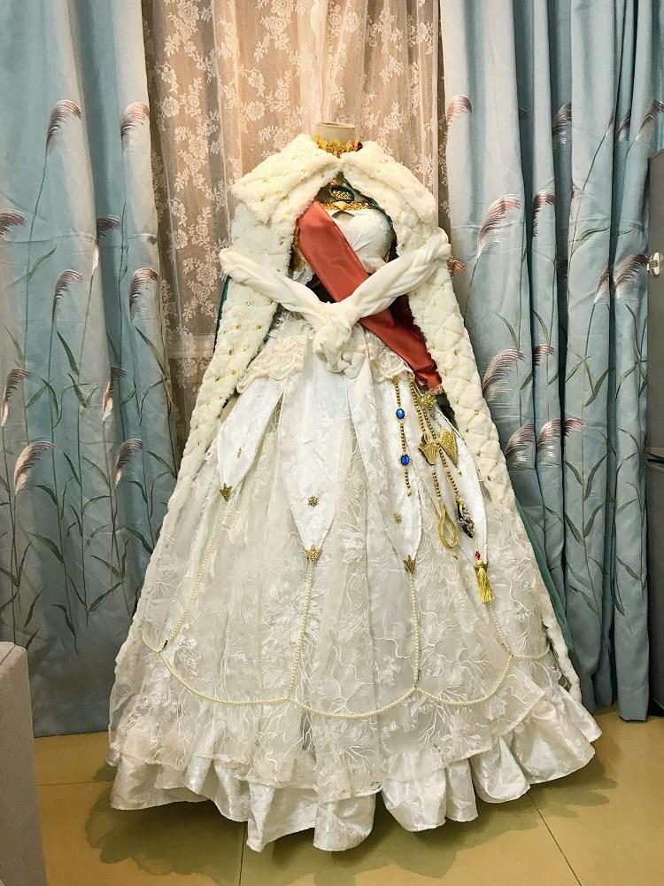 [Customized] Anime Fate/Grand Order Anastasia Gorgeous Lolita Outfit Cosplay Costume+Headwear Women Halloween Free Shipping New