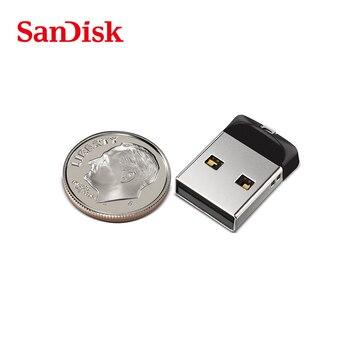 Genuino SanDisk USB 2.0 CZ33 negro mini USB flash drive 64 GB 32G 16 GB 8 GB 100% original pen Drives soporte verificación oficial
