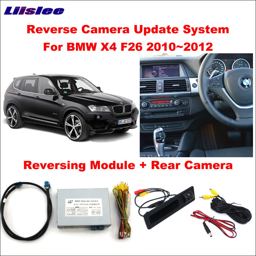 Liislee Original Screen Update System For BMW X4 F26 2010~2012 CIC System Reversing Module + Rear Camera  Decode Track Box car