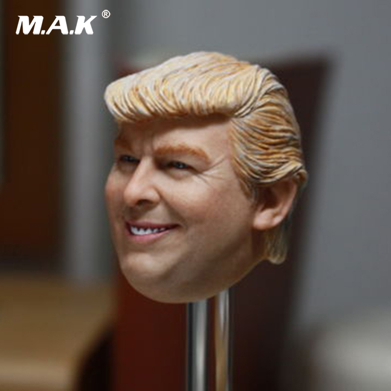 1/6 Scale Male Head US President Donald Trump Head Sculpt Art Painting Model for 12