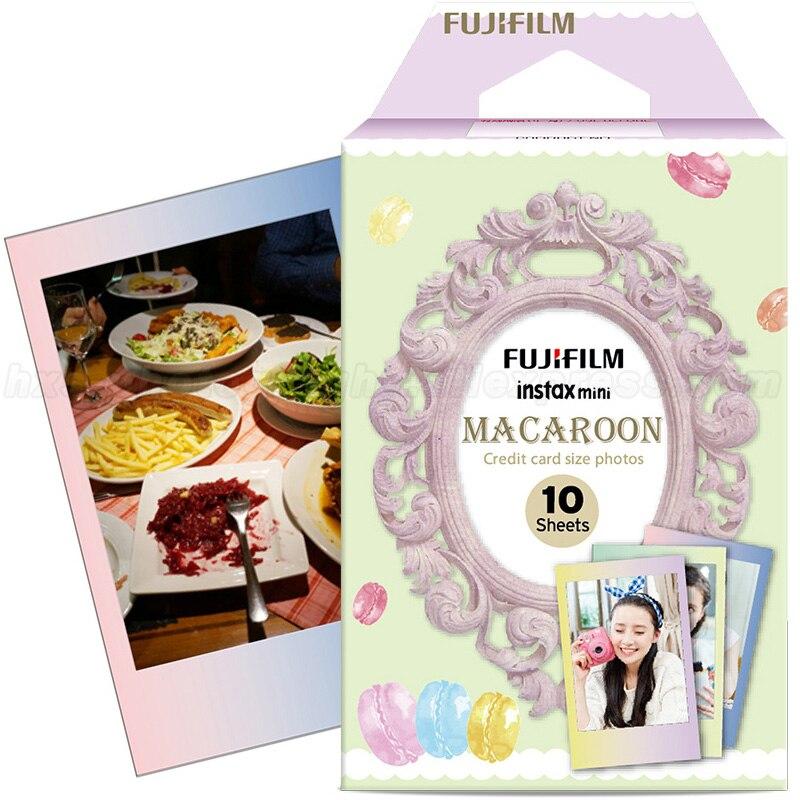2016 New Fuji Fujifilm Instax Mini Instant Film Macaroon Photo Paper 10pcs For Mini 8 7s 7 50s 50i 90 25 dw Share SP-1 Cameras 100% original fuji fujifilm instax mini 8 film white 50 pcs for 8 7 7s 50s 90 25 dw 50i share sp 1 polaroid instant photo camera