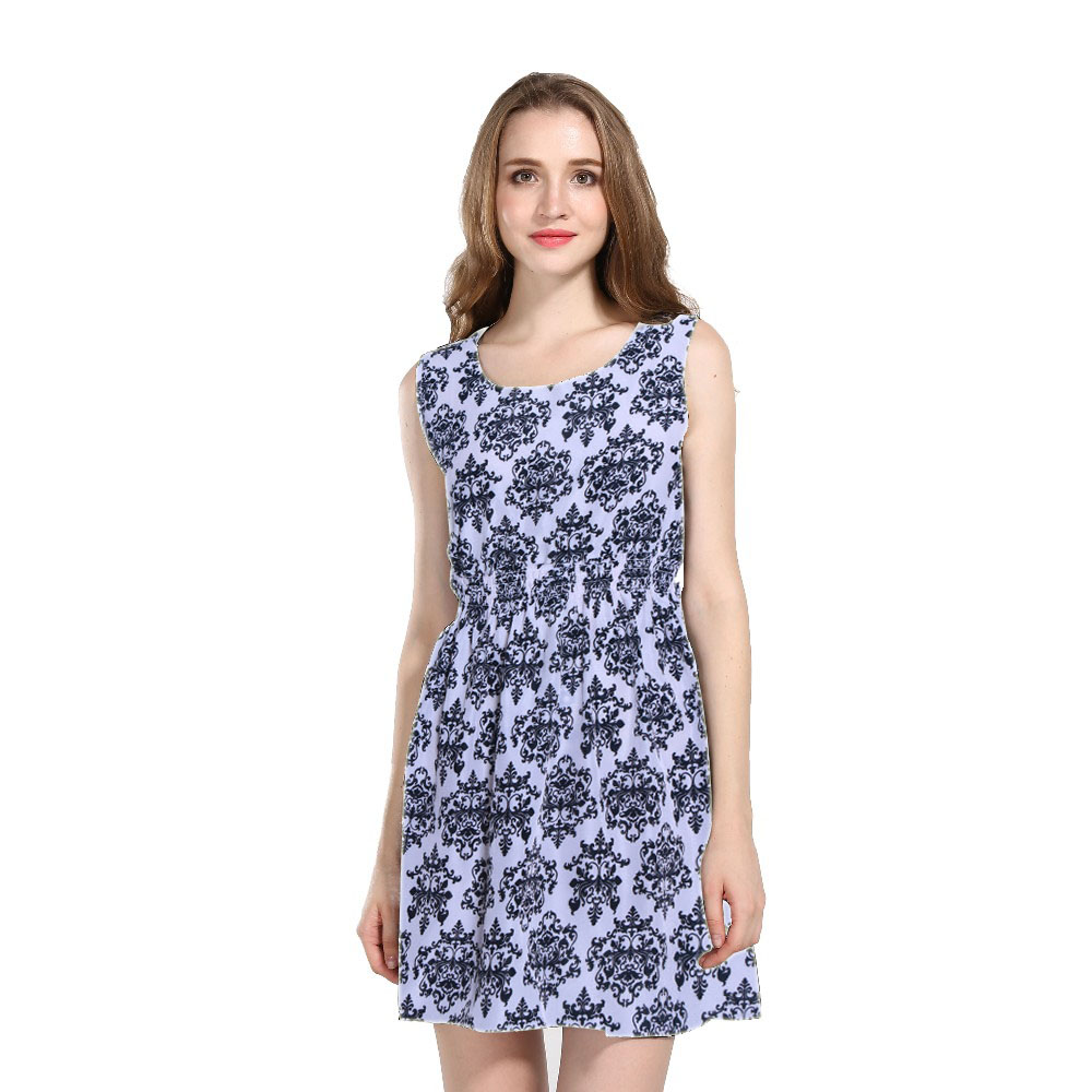 2016 Hot Sale Summer Dress Women Casual Sleeveless Dress ...