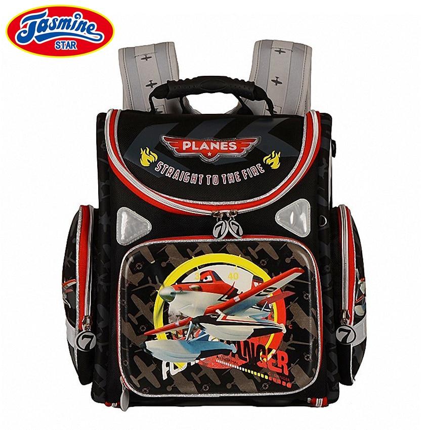 JASMINESTAR Primary Boy Backpack Schoolbags 2017 Cartoon Kids Backpack Zipper Boys Orthopedic School Bags Mochila Feminina