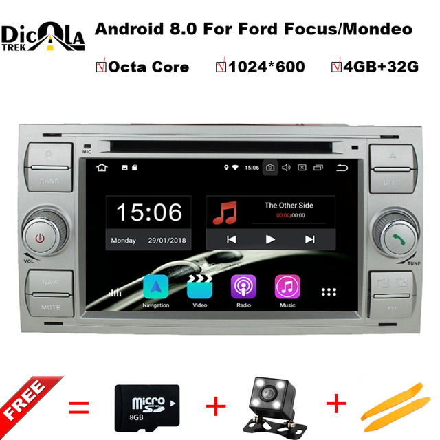 2din Android 8.0 DAB+Car DVD Player In Dash For Ford Transit Focus ...