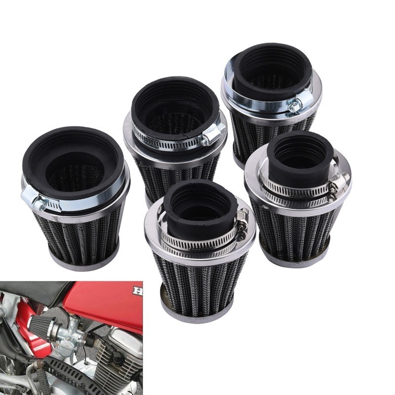 Universal 35/39/48/54/60mm Motorcycle Mushroom Head Air Filter Cleaner For Honda Yamaha Harley Cafe Scooter Filter image