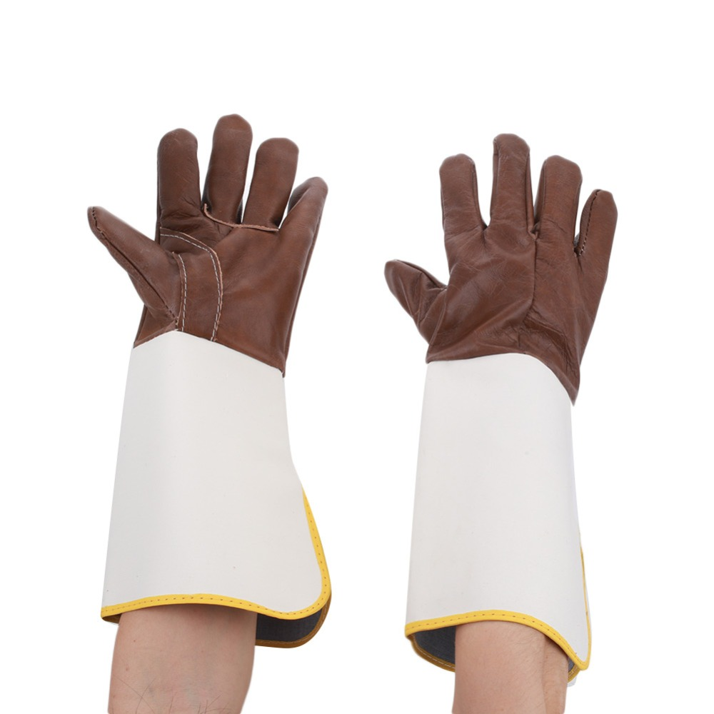 1 Pair Lleather Welding Gloves Work Safety Gloves Anti-Cut Gloves Glass Handling Circuit Boards eurogold 37542в mono