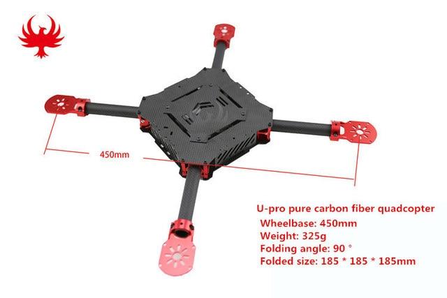 DIY FPV drones U pro folding quadcopter frame Wheelbase 450 550 ...