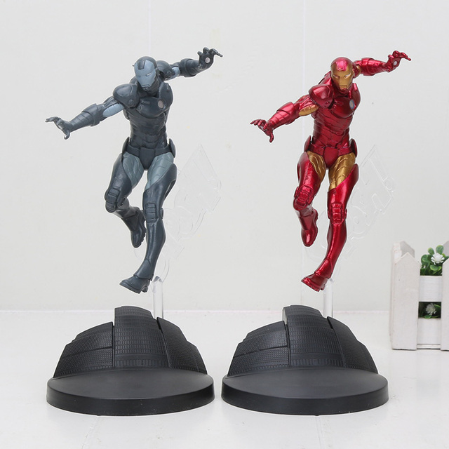 US $7 6 15% OFF|Ironman Super Heroes avenger figures superhero spiderman  Creator X Creator spider man Iron Man Statue PVC Figure Collection Toys-in
