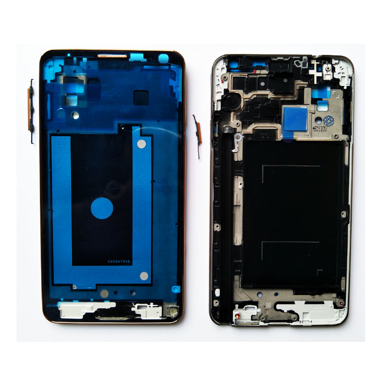 New For Samsung Galaxy Note 3 N9005 N900 Front Housing Middle Bezel Plate Frame With Power Volume Keys