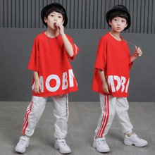 Children Jazz Dance Costumes Girls Boys Street Dance Show Modern Stage Performance Clothing Hip Hop Dance Costumes Top Pants цены
