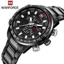 Top Luxury Brand Men Military Sports Watches Men's Quartz LED Digital Hour Clock Male Full Steel Wrist Watch Relogio Masculino