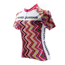 2016 Women Cycling Jersey Bike Bicycle jersey Sleeve Sportswear Rainbow Cycling Clothing CD1506