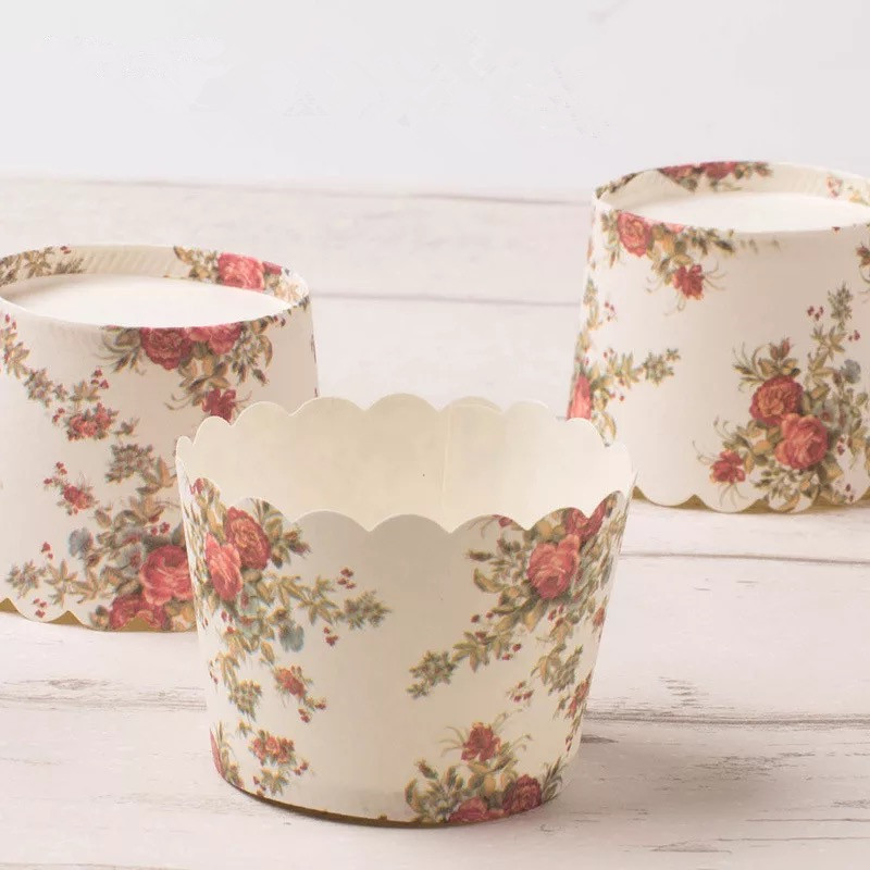 Home Cake Decorating Supply Co: Free Shipping White Baking Cup Flower Decoration Cupcake